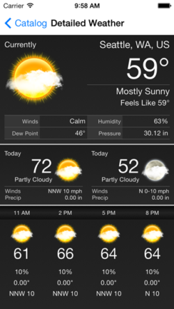 Aeris iOS Weather Framework - Main Dark