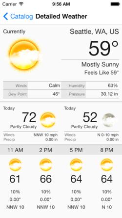 Aeris iOS Weather Framework - Main Light