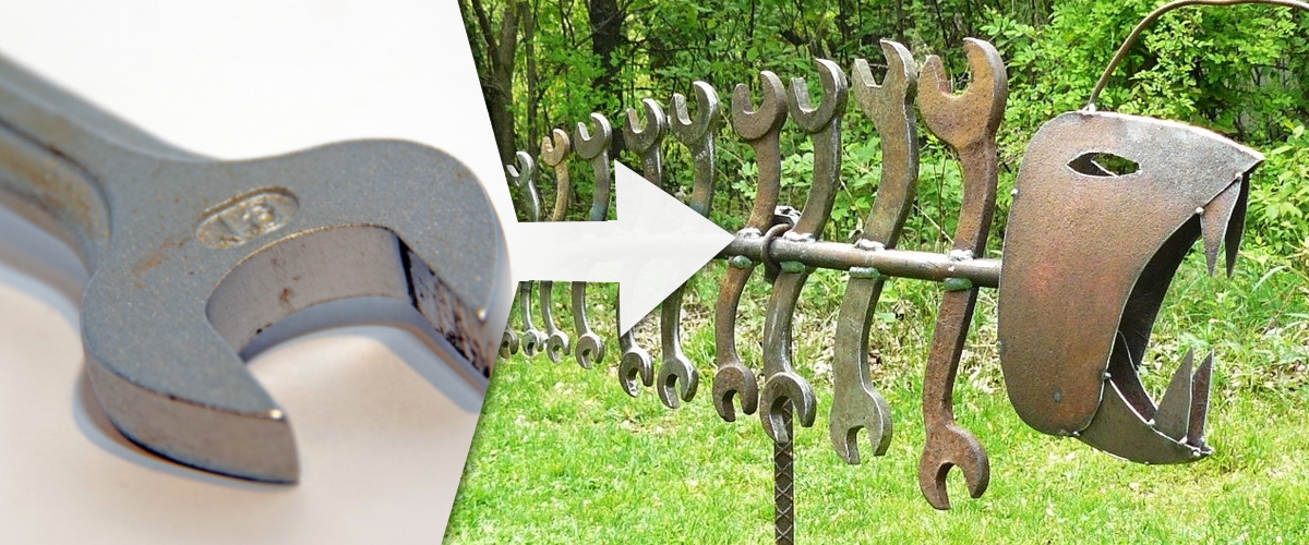 Wrench to Scuplture