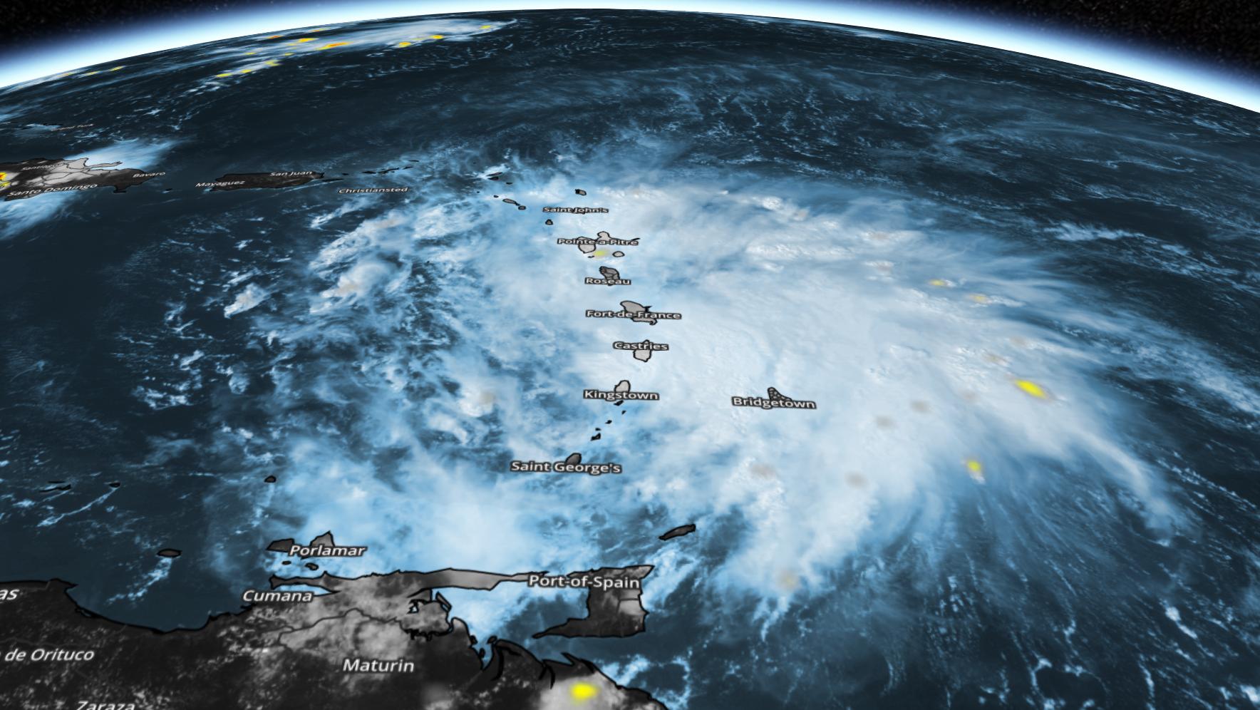 3d Zoom of Tropical Storm Matthew