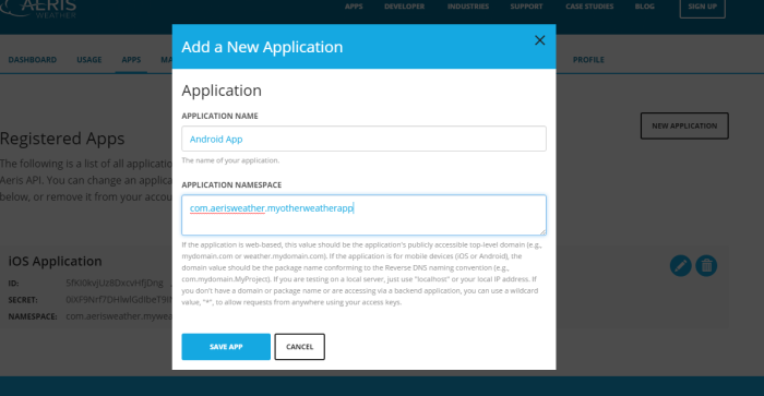 Adding New Application