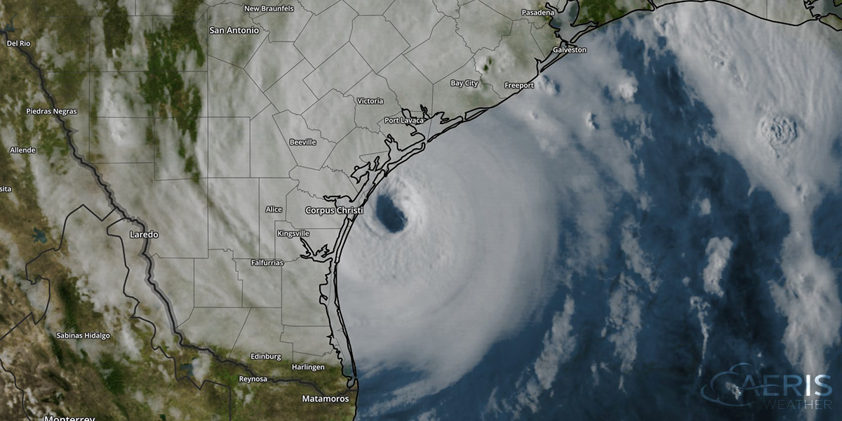 Hurricane Harvey approaching Texas coast