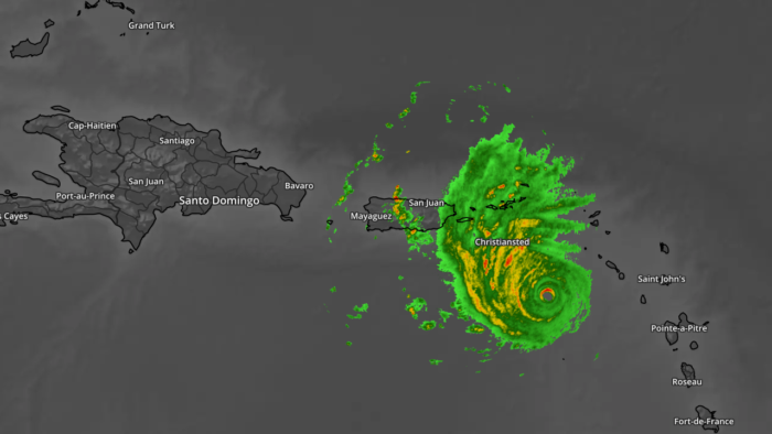 Hurricane Maria via New Enhanced Radar