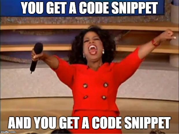more code snippets