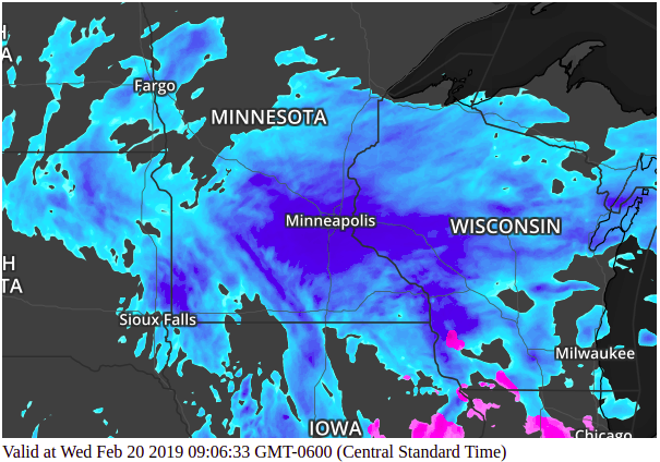 Static Weather Maps - Radar Minneapolis