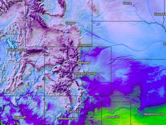 Static Weather Maps - Denver Temps