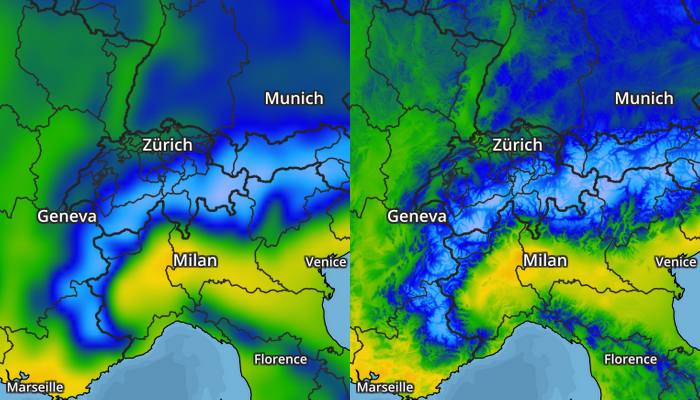 Example of temperature map improvements