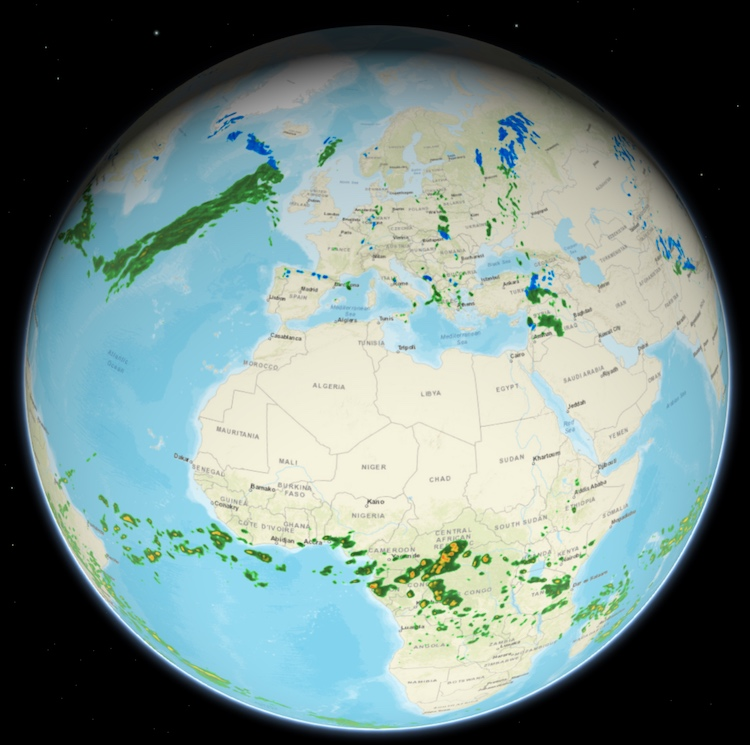 3D Weather Map with Global Radar (Derived)