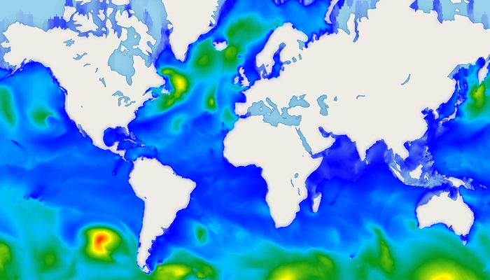 New Wave Heights Map in AerisWeather Mapping Platform