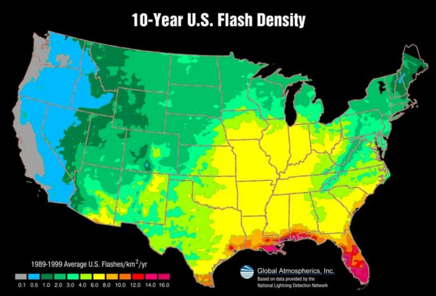 10 year us flash density