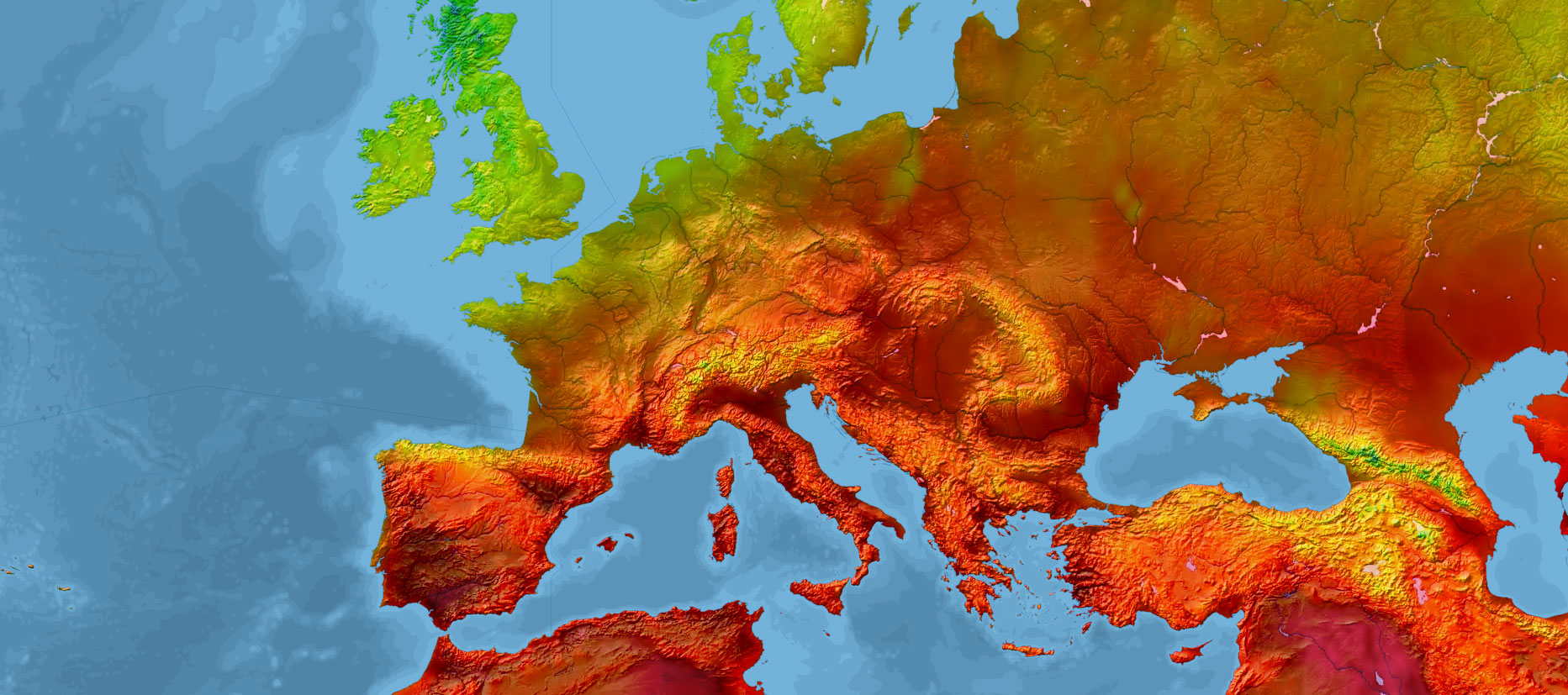 weather map of western Europe