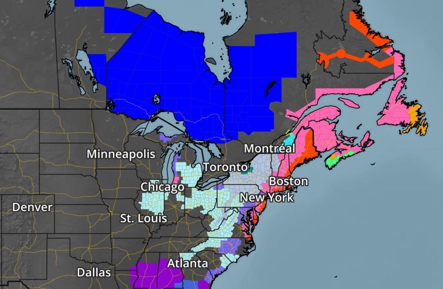 Radar Image of Norther East Coast