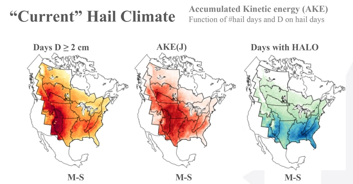 Image showing hail climate in north america