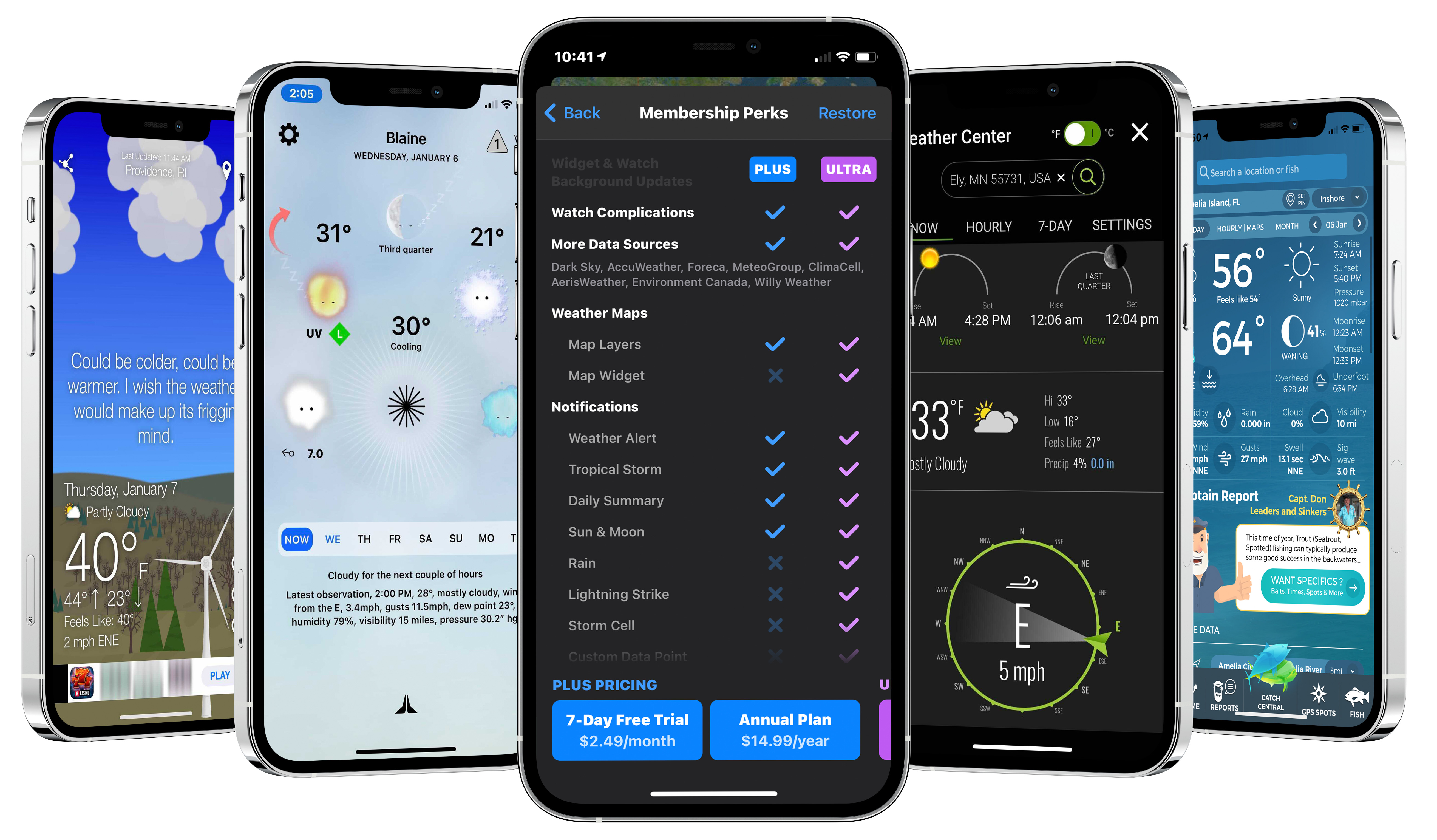 AerisWeather Data fuels countless mobile applications.