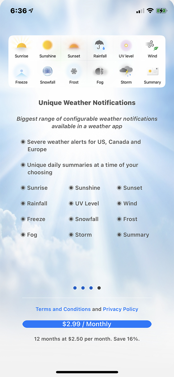 Weather Gods Features