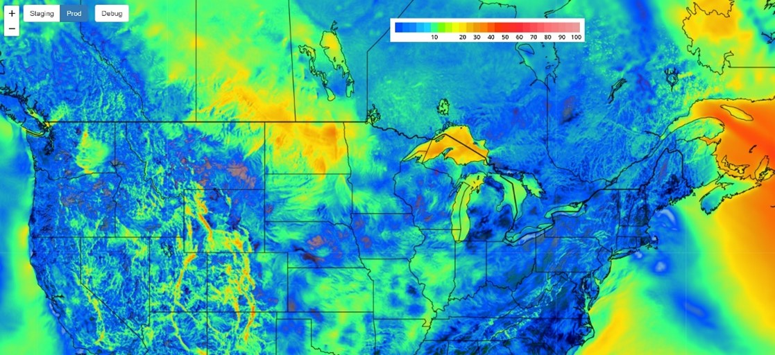 Heat map of United States