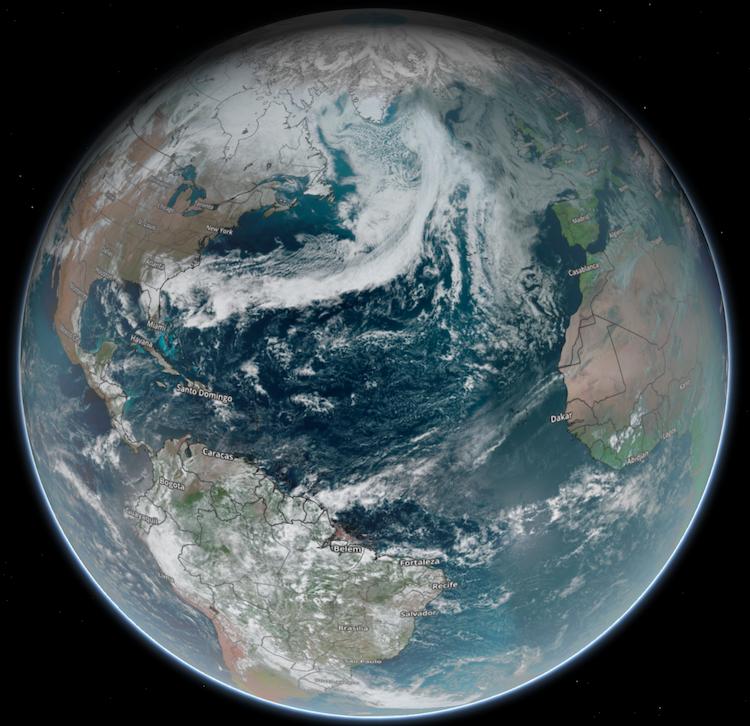 Geocolor Satellite Globe