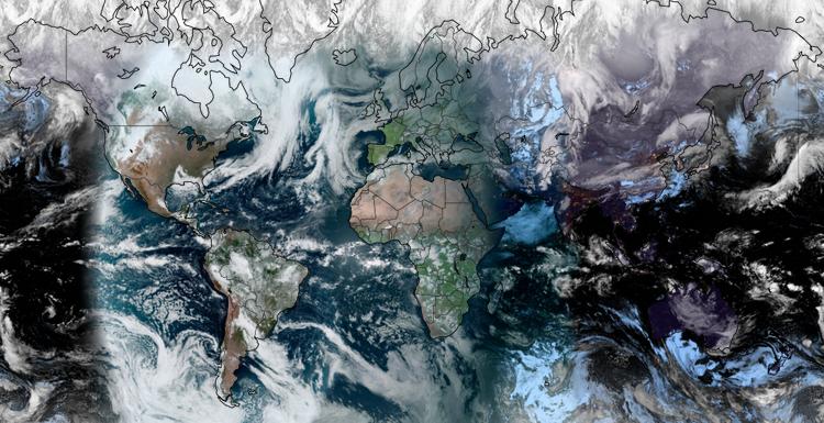 Global Geocolor Satellite View