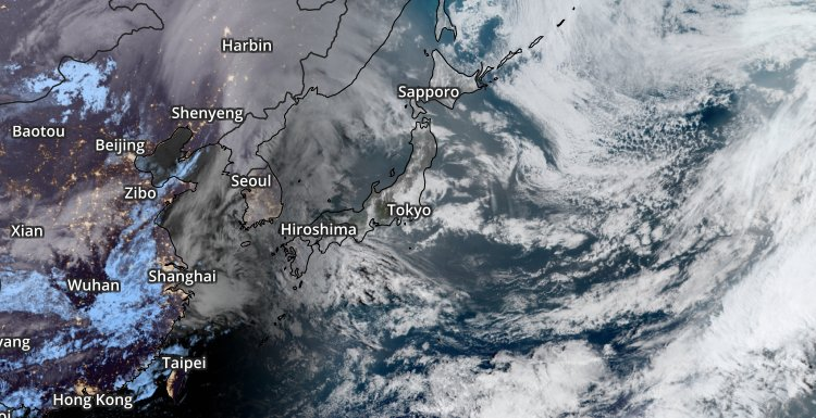 Geocolor Satellite over Japan