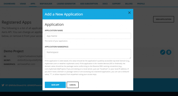 new application example