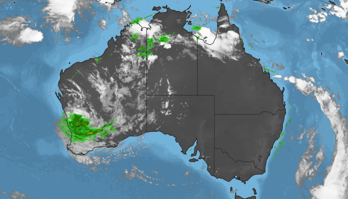 Historic radar and satellite layers for Australia.