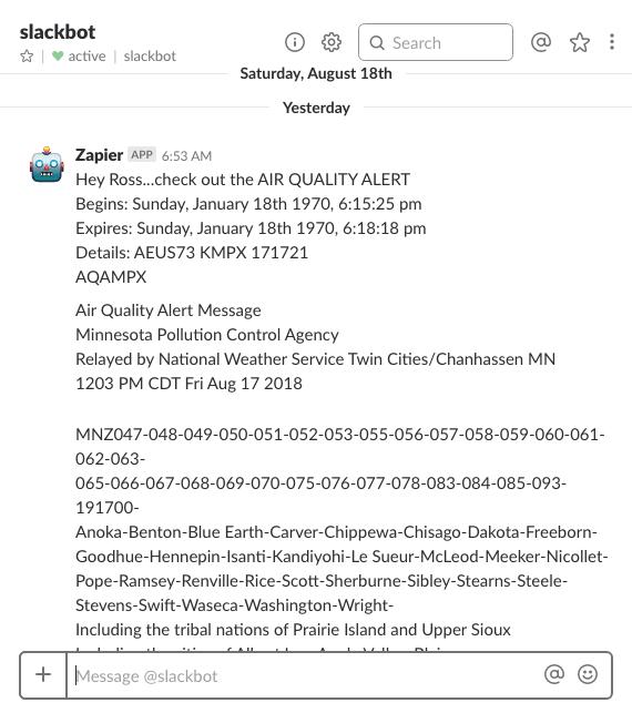 Slack Alert Screenshot
